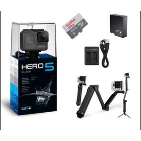 Camera Gopro Hero 5 +cartao 64gb+bateria+carregador+3 Way