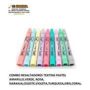 Resaltadores Pastel Texting Trabi Pack X9 Unidades Surtidas