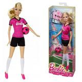 Muñeca Barbie Profesiones Futbolista Con Pelota Quiero Ser
