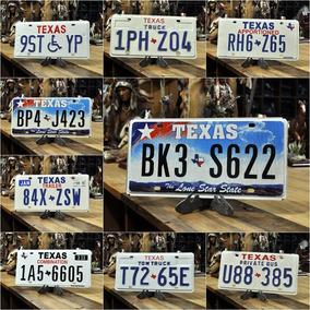 Placas De Carro Texas Originais Usa Usadas Em Ótimo Estado