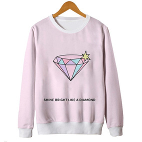 Blusas Femininas Moletom Brilhe Como Um Diamante Tumblr Mt