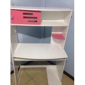 Escrivania De Compensado Rosa E Branco