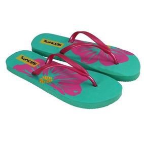 Sandalia Dama Tropicans Verde Playa Alberca
