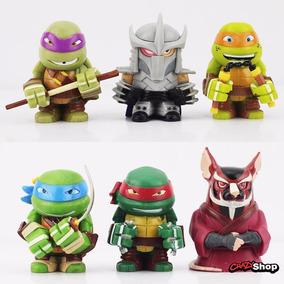 Tartarugas Ninja Nickelodeon 6 Bonecos 4cm