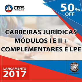 Carreira Juridica Cers 2017 Moduos I Ii Iii Iv Brinde 2016