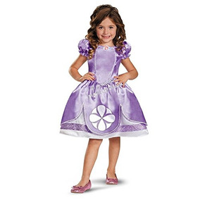 Disfraz De Princesa Sofia Para Niña Talla Xs - Morado