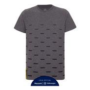 Camiseta Graphic Volkswagen Corporate Masculino Cinza