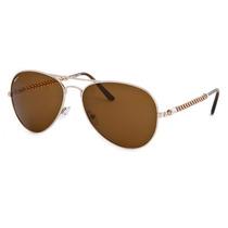 Óculos De Sol Invicta Aviador Rosê Lente Marrom Iew016-02
