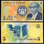 Billete De Lesotho 5 Maloti Año 1989