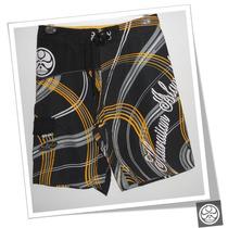 Board Short (bermuda) Hic Hibs-1012 Preto/amarelo Surf Wear