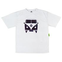 Camiseta Kids Bordada Kombi 2   Isabb