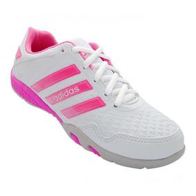 Tênis Feminino adidas F500 Branco E Rosa