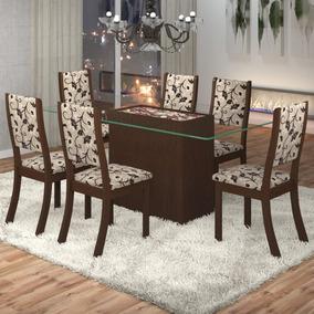 Sala De Jantar Lina 6 Cadeiras Kiara Viero Fe