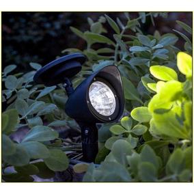 Luminária Solar Jardim Spot Luz Branca 3 Lampadas Leds