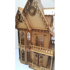 Ax Casa Casinha De Boneca Mdf Polly - 46 Móveis