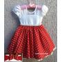 Vestido Festa Minnie Baby Bebê Vermelha E Faixa De Cabelo