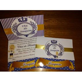 20 Convites Chá De Bebê Etc Com Envelope Personalizados