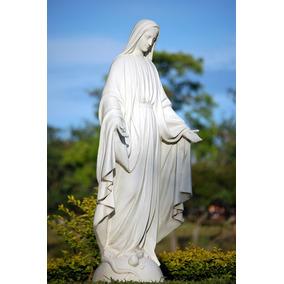 Imagem De Nossa Senhora Das Graças 130 Cm Pó De Marmore
