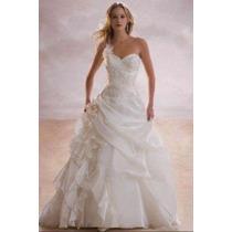 Vestido De Novia Hermoso Blanco Talla 36-38 Con Velo