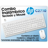 Combo Inalámbrico Teclado + Mouse, Hp Wireless Desktop C2710