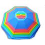 Guarda Sol Gigante 2,60m Rainbow Articulado Azul C/ Colorido