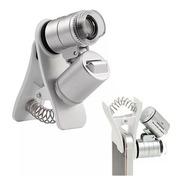 Mini Microscópio Lupa Bolso 60x Luz Ultravioleta Garimpo