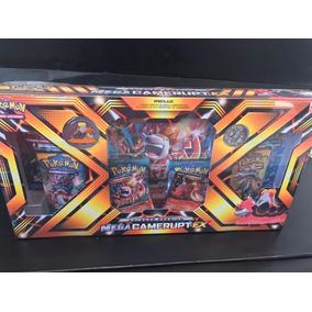 Pokemon Box Mega Camerupt-ex Card Gigante Moeda Broche