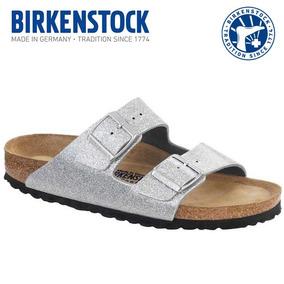 Birkenstock Sandálias Feminina Prata 34 35 Arizona Silver