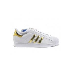 bacce06028 Tênis adidas Superstar Ouro -gold Feminino Limited Edição