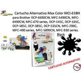 Cartucho Alternativo Max Color Mci-61bh / Para Brother Black