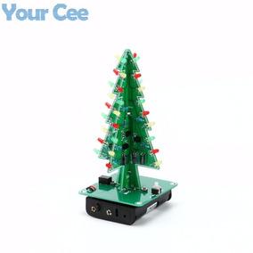 Kit Led Diy Árvore De Natal Eletrônica Com Led Para Montar
