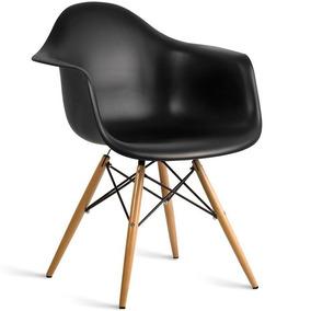 Cadeira Poltrona Mesa Sala Jantar Eames Wood Daw Com Braços