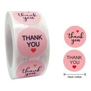 Rollo De Pegatinas Thank You / Rosa