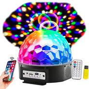 Bola Esfera Led Rgb Control Mp3 Usb Luz Parlantes Bluetooth