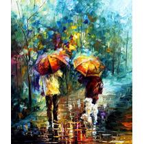 Rainy Walk - Pintura Al Oleo Del Maestro Leonid Afremov