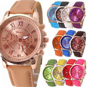 Reloj Mujer Mayoreo Geneva Moda Dama Vintage A578 Rm