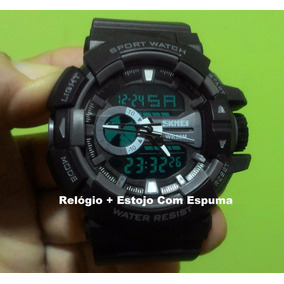 Relógio Militar Shock Digital Analgico A Prova Dágua Md 1117