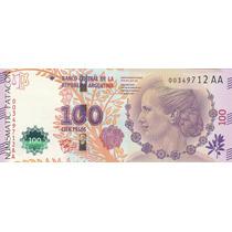 Billete 100 Pesos Eva Peron Vanolli Boudou Serie Aa S/circ