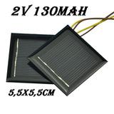 Mini Painel Placa Energia Solar Fotovoltaica 2v 130mah 0,26w