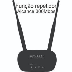 Roteador Wifi Kross 2 Antenas Elegance Ap 300mbps