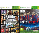 Pes 17 Y Grand Theft Auto V Xbox 360 Digital