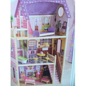 Casa Casinha Bonecas Kidkraft Dollhouse Moveis Madeira