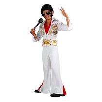 Disfraz Niño Rubíes Disfraz De Elvis Deluxe, Grande, Un Col