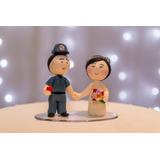 Noivinhos De Biscuit Topo De Bolo De Casamento Personalizado