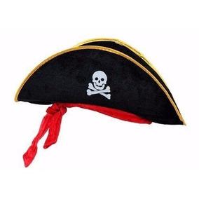 Chapeu Pirata Com Fita Vermelha Com / 10 Peça