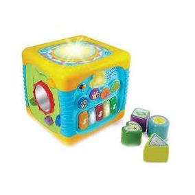 Cubo Mesa De Atividades Musical Encaixes Para Bebes Criança