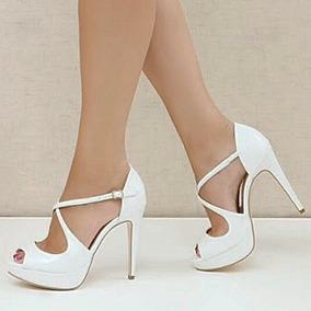 Sapatos Femininos Sandalias De Noivas Salto 12