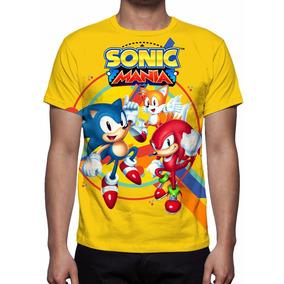 Camisa, Camiseta Sonic Mania - Frete Grátis