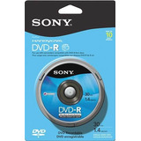 Sony Dvd Recordable Media Dvd-r 140 Gb 10 Pack Spindle Blue