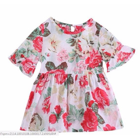 Blusa Floral Importada Menina Tam 5 Veste 5/6 Anos Bata